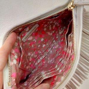 Vera Bradley Bags - Genuine leather gold fringe wristlet Mia